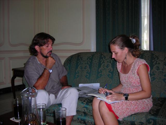 M. Papacci e Julieta García Ríos - La Habana, 02/08/2007